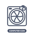 photo icon in social networks vector image