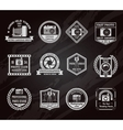 Photo Industry Chalkboard Emblems Set vector image vector image