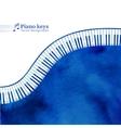Piano keys watercolor background vector image vector image