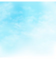 picture of clouds on the blue sky background vector image vector image