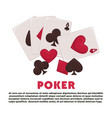 poker promotional banner with play cards and vector image vector image