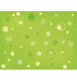 Postcard with floral pattern vector image vector image