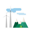 power alternative energy and eco turbine wind vector image