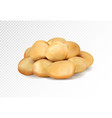realisic potatoes grope on transparent vector image vector image