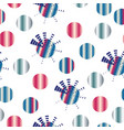 seamless pattern with abstract coloful circles vector image vector image