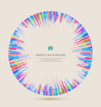 seeing inside of the colorful lines pattern vector image