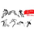 set of extreme sportsmen vector image vector image