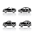 Set of transport icons - cars vector image vector image