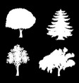 set of trees icons isolated on black background vector image vector image