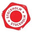 Stockholm stamp rubber grunge vector image vector image