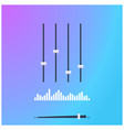 studio music mixer with equalizer control buttons vector image
