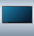 tft tv hanging on the wall background vector image vector image