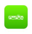 tram icon digital green vector image