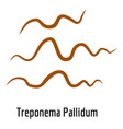 treponema pallidum icon cartoon style vector image vector image