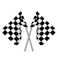 Two finish flag vector image