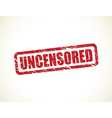 uncensored vector image vector image