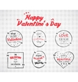 Valentine day Watercolor ink splash Quote blank vector image