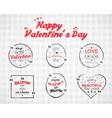 Valentine day Watercolor ink splash Quote blank vector image vector image