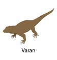varan icon isometric style vector image