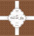 vintage brown swirl oriental pattern card vector image vector image