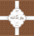vntage brown swirl oriental pattern card vector image vector image
