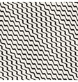 Wavy Ripple Stripes Seamless Black and vector image vector image