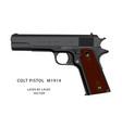 ww2 colt pistol vector image vector image
