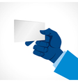 blank card in hand vector image