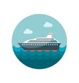 Cruise transatlantic liner ship flat icon vector image