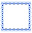 lacy pattern of blue flowers vector image