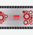 red and gray gear abstract background with copy vector image