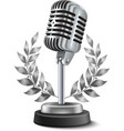 Gold Microphone Award vector image