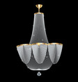 a beautiful crystal chandelier on a dark vector image vector image