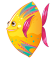 A big colorful fish vector image vector image