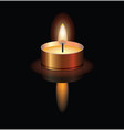 a small burning candle vector image vector image