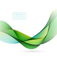abstract wave design on white background vector image vector image