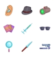 Agent icons set cartoon style vector image vector image