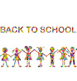 Back to school background with stylized patterned vector image