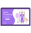 banner smart shopping concept for vector image vector image
