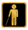 blind disabled button vector image