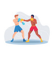 boxing sport concept vector image
