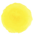 bright yellow watercolor painted stain vector image vector image
