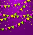 Bunting Background for Mardi Gras vector image vector image