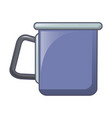 camp steel cup icon cartoon style vector image
