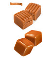 caramel candies 3d vector image