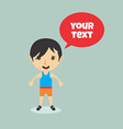cartoon character with speech bubble vector image vector image