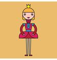 Color Princess vector image vector image