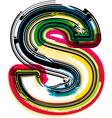 Colorful Grunge font LETTER S vector image vector image