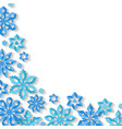 corner snowflake background vector image vector image