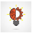 Creative brain Idea concept background vector image vector image